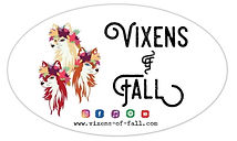 Vixens of Fall bumper sticker