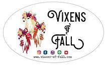 Vixens of Fall bumper sticker