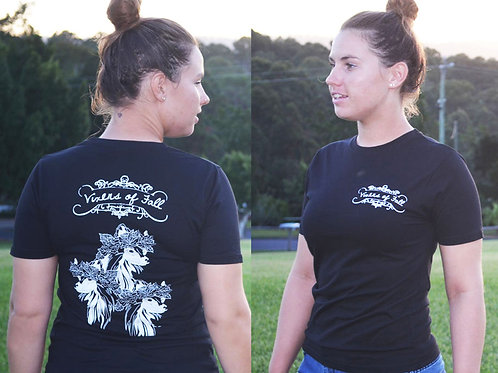 Womens Vixens T-Shirt (Black)