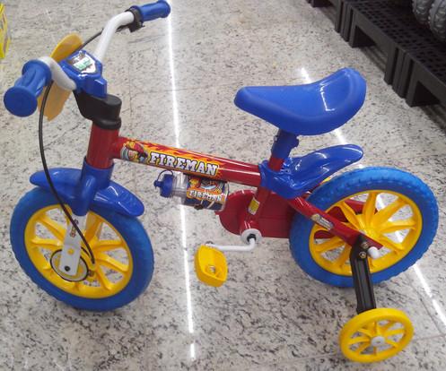 0f85cb152 Bicicleta Infantil aro 12 Fireman (Nathor) Super colorida e veloz