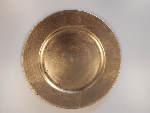 Gold Round Plain Charger Plates