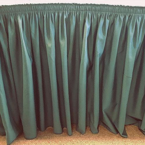 Table Skirt - Dark Green