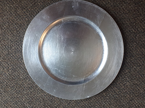 Silver Round Plain Charger Plates