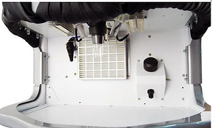 Revo Series Laser welder inside view of chamber