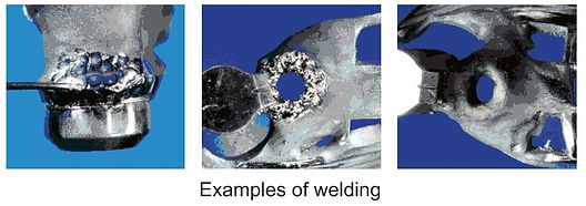 Examples of welding using Top Eleven series laser welder