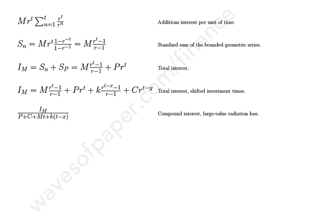 Various compound interests formulas that compare a lump sum vs. regular investment strategy.