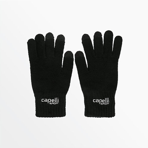 ADULT BRANDED KNIT GLOVE WITH 3 FINGER TOUCH