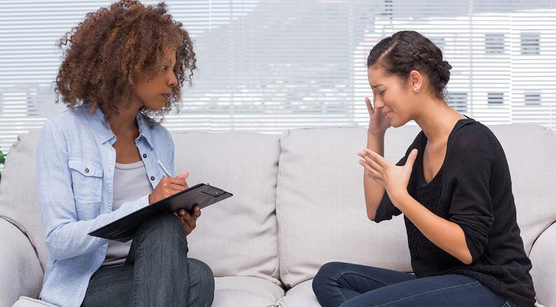 Woman therapist and woman in session - Get the most out of therapy.
