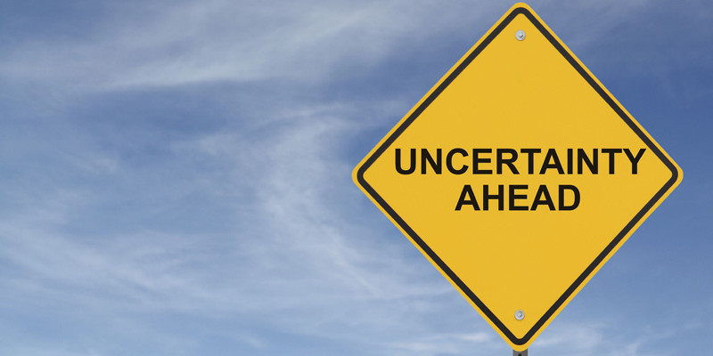 road sign - uncertainty ahead