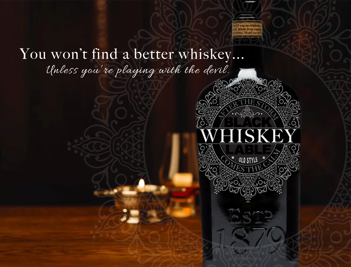 BLACK LABLE WHISKEY AD