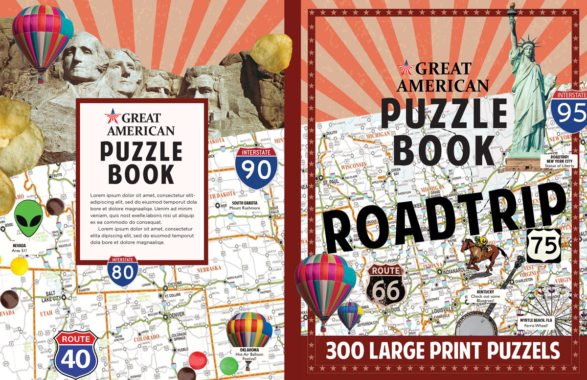 GREAT AMERICAN MOMENTS PUZZLE BOOK ROADTRIP
