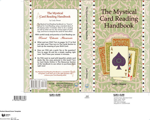 THE MYSTICAL CARD READING HANDBOOK COVER