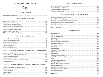 Introductory Herbal Course Contents sample