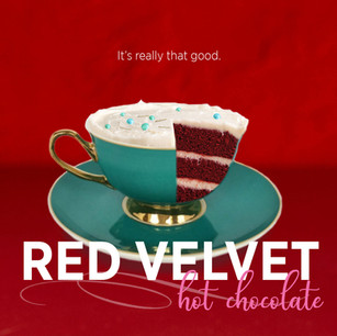 Red Velvet Hot Chocolate ad