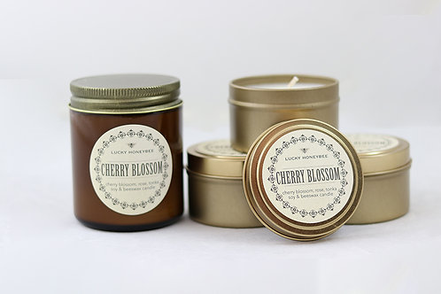 Cherry Blossom Candle by The Lucky Honeybee