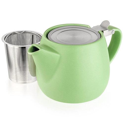 Porcelain Teapot in lime 18.2 oz.