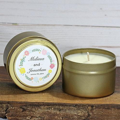 Custom Candle Favors