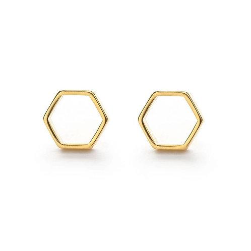 Hexagon Studs by Amano Studio