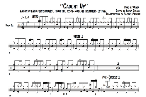 """Transcription: Aaron Spears """"Caught Up"""""""