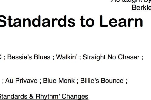 Learn Jazz Standards: 14 Weeks Plan