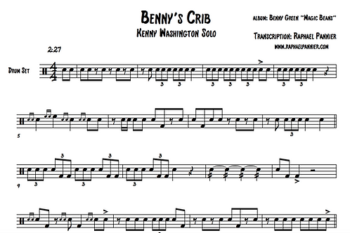 "Transcription: Kenny Washington ""Benny's Crib"" solo"