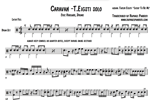 "Transcription: Eric Harland on ""Caravan"""