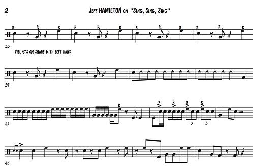 "Transcription: Jeff Hamilton ""Sing Sing Sing"""