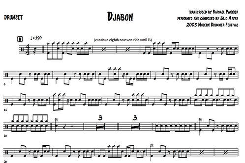"Transcription: Jojo Mayer ""Jabon"""