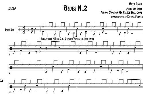 Transcripción: Philly Joe Jones Blues N.2