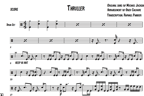 "Transcription: Obed Calvaire on ""Thriller"""
