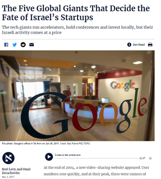 The Five Global Giants That Decide the Fate of Israel's Startups