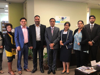 Bhav Dhillon, Honorary Consul of India, Auckland visits office of Legal Associates