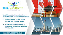 Legal Associates International has started services for Canada Immigration