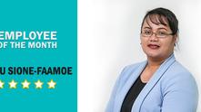 EMPLOYEE OF THE MONTH: Siatu Sione-Faamoe | Dec 2018