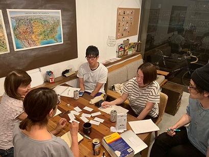 英語のボキャブラリーをメンバー同士で学ぶイベント