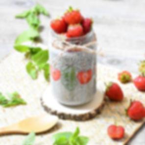 Qui veut gouter à ce pudding chia fraise
