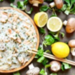 Spaguetti de Konjac à la truite et à la
