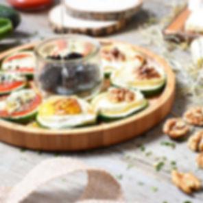 Pizza de courgette chèvre miel et coulis