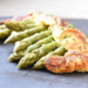Omelette d'asperge en chausson , bon app