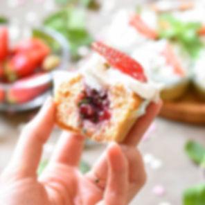 Muffin au citron et au coeur coulant à l