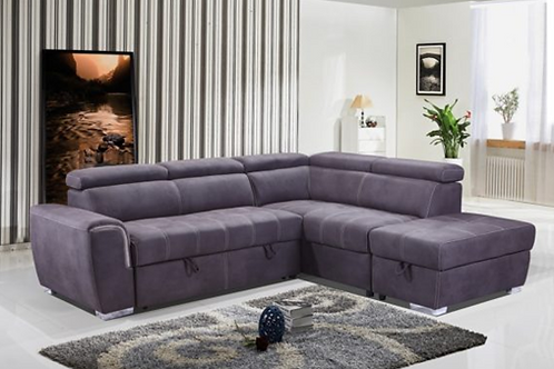 NEVADA SOFA BED -GREY FABRIC
