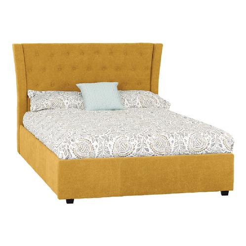 """Camden 4'6"""" Bed Mustard"""