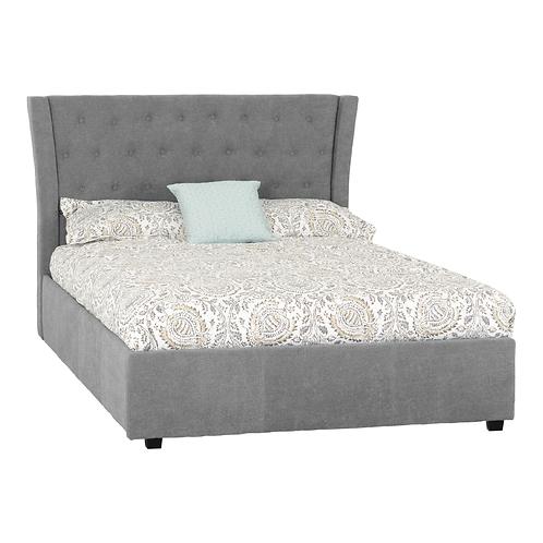 """Camden Plus 4'6"""" Storage Bed Grey"""