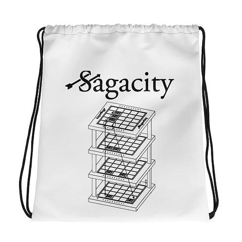 Drawstring bag White