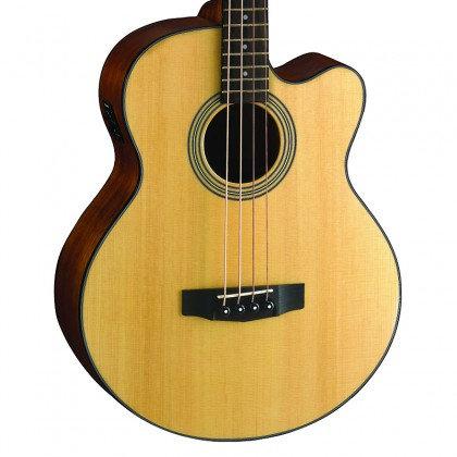 גיטרה בס אקוסטית מוגברת כולל נרתיק CORT SJB5F-NS