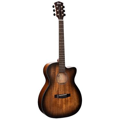 גיטרה אקוסטית מוגברת + נרתיק CORT CORE-OC AMH OPBB Mahogany