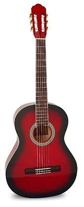 גיטרה קלאסית + נרתיק FABIO / INFINITY KM-3911RB RED BURST MATT