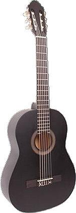 גיטרה קלאסית שחורה + נרתיק FABIO / INFINITY KM-3911BK MATT