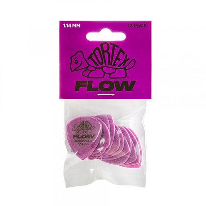 מארז 12 מפרטים DUNLOP TORTEX FLOW STD 1.14