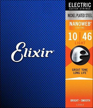 סט מיתרים לחשמלית ELIXIR NANOWEB 0.10